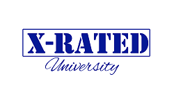 X Rated University logo